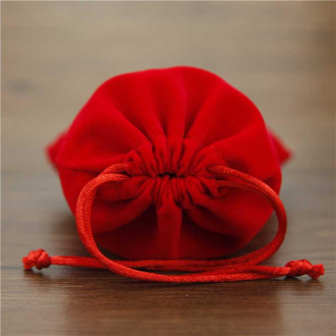 2019 nuevas bolsas de regalo de moda bolsas de franela 7*9 cm bolsas de terciopelo negro de alta calidad bolsas de joyería caja de regalo al por mayor