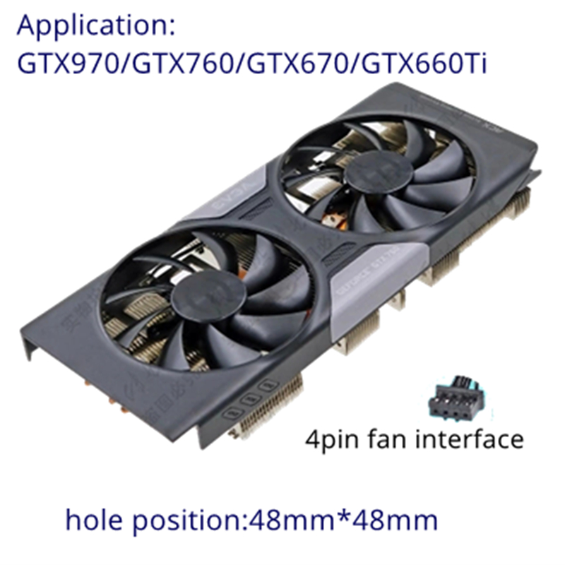 4pin fan graphics card gtx 670 gtx 970 gtx 760 gtx660ti 4 heatpipe graphics fan cooler for cpu gamer video card GPU cooling vga cooler dual fan 9cm fan 4 heatpipe gtx980 970 r9 290 cooling for graphics card vga cooler fan 90mm coolerboss gfh 409 02