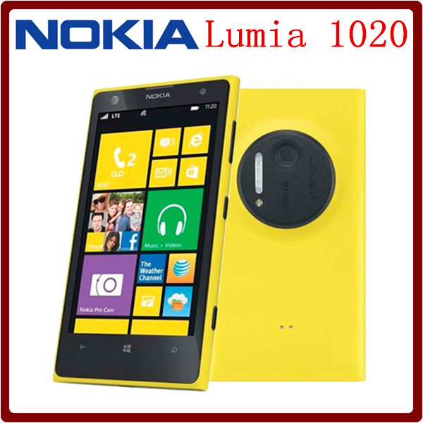 Hot Selling Original Unlocked Nokia Lumia 1020 4.5`` Windows Mobile OS 2GB RAM 32G ROM 41MP 1080P GPS Smartphone Free Shipping
