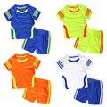 2017 лето детская одежда устанавливает хлопок полосатые спортивный костюм малыша костюм зпиф мальчиков и девочек рубашка одежда для активного set18