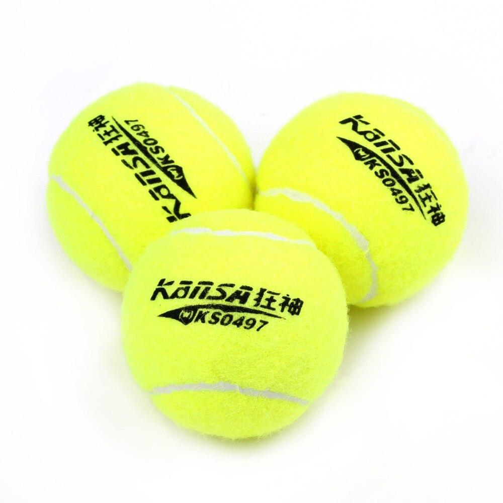 3pcs/Set Training Tennis Ball  Rubber Woolen High Resilience Tennis Balls Tennis Training Tools