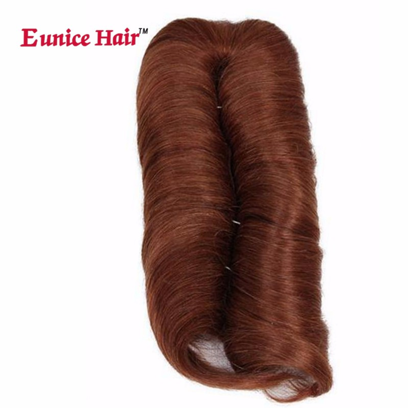 Eunice Hair Short 28 Pieces Double Weft Straight Hair Bundles Synthetic Weaving