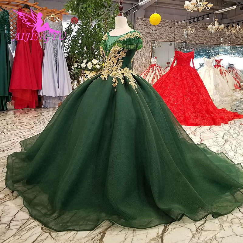AIJINGYU Lace Wedding Dresses Moroccan Gowns Korean Royal Queen With Sleeves New Gown Indian Wedding DressWedding Dresses   -