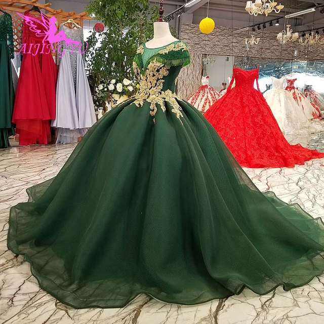 3c89cdbc0e AIJINGYU Lace Wedding Dresses Moroccan Gowns Korean Royal Queen With Sleeves  New Gown Indian Wedding Dress