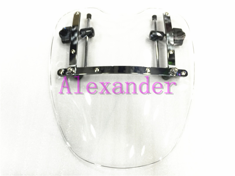 купить Free Shipping Brand New Motorcycle Windshield Windscreen for Harley Davidson Sportster Dyna Glide Softail XL 883 1200 White xl по цене 3031.33 рублей