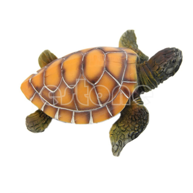 Aquarium ornaments decoration polyresin artificial turtle for Turtle decorations for home