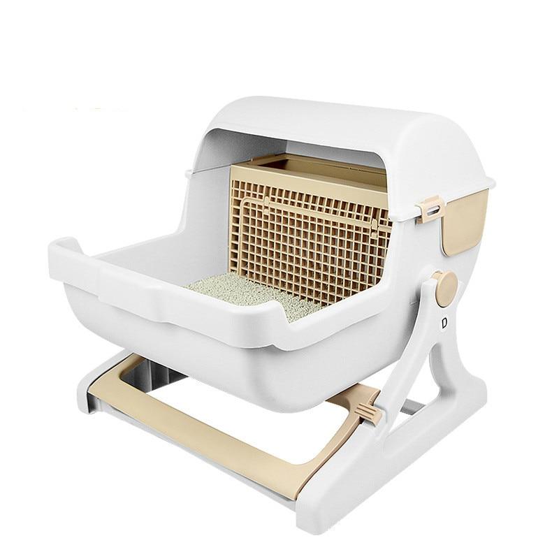 Полуавтоматическая быстрая Чистка кошачьих туалетов коробка для домашних животных чистящие товары кошачьих туалетов Туалет анти всплеск