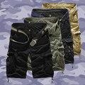 Calças de Combate Tático Militar do Exército dos homens Bolso Calças Camo Carga de Trabalho 156W1DQ
