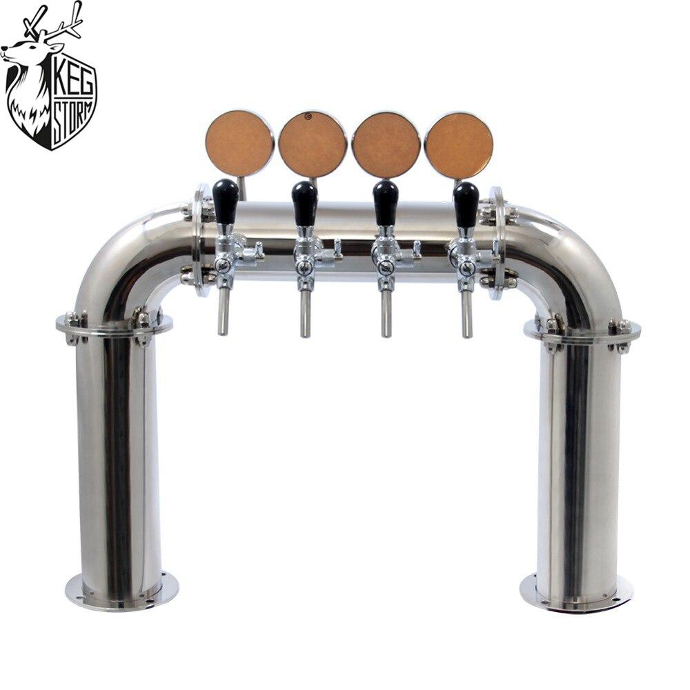 Таро пиво распределения оборудования ресторан бар высокого класса вино столбец 4 отверстия Тип двери винная башня с лампой PVD
