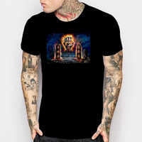 Iron Maiden The Book Of Souls Printed T Shirt Heavy Metal Rock Great Camisetas Tshirts Summer