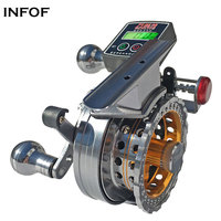 INFOF Electric Line Counter Reels 3.6:1 6+1BB Aluminium Alloy Fish Line Wheel Fly Fishing Reel Left/Right Handed