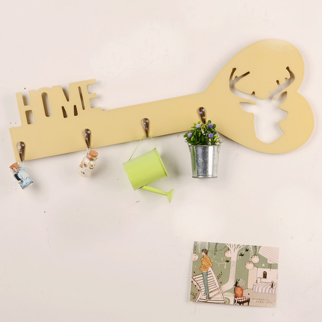 Creative Wall Key Holders Hanger Vintage Style Grocery for Hat ...