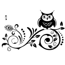 Fashion Vine Flower Owl Wall Art Decal Vinyl Sticker Removable Kids Home  Mural Part 79