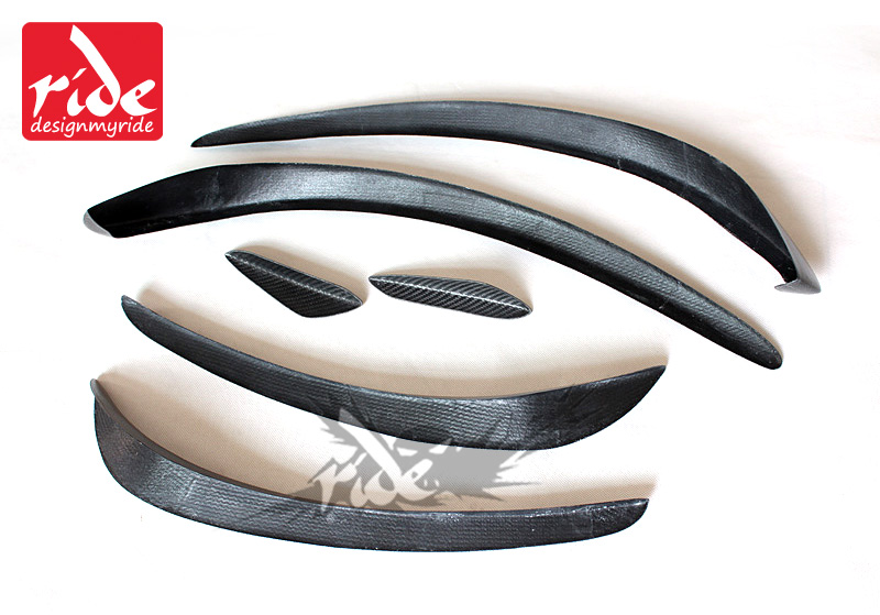 W117 6pcs Gloss carbon fiber front bumper spoiler flap canard splitters for Mercedes Benz W117 CLA200 CLA250 CLA45AMG 2013 2016-in Bumpers from Automobiles & Motorcycles    3