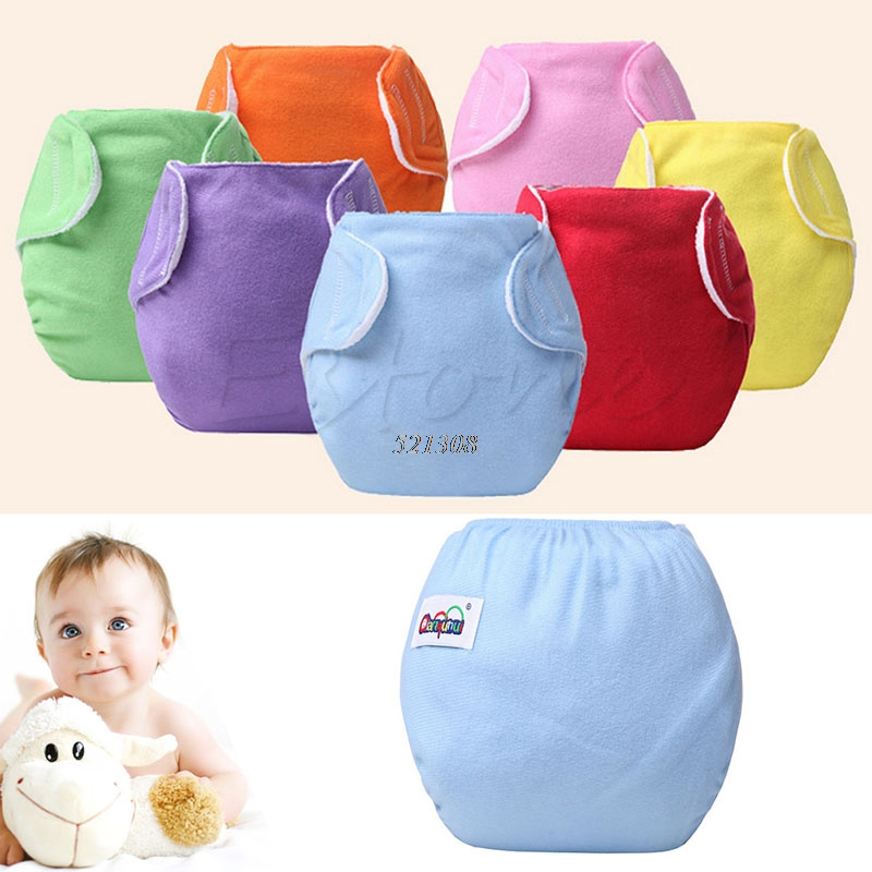 Sanwood Baby Kid Diaper Cover Adjustable Reusable Washable Nappies Cloth Diapers A5645