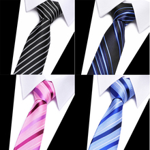 High-grade New fashion Blue striped plaid tie men 8 cm width group necktie  wedding party for corbatas 2018-808