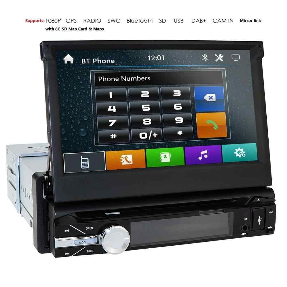 1 Din Car DVD GPS Navigation player for universal car Radio Music ...