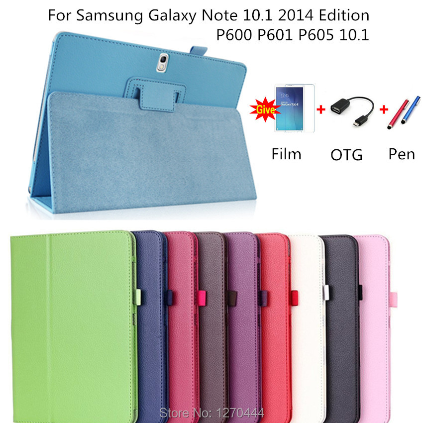 Litchi skin PU Leather stand flip cases protective cover For Samsung Galaxy Note 10.1 2014 Edition P600 P601 P605 Tablets case etude lr etudehouse skin note