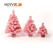 HOYV Small Christmas Decorations  Pink Tree Decor christmas decorations for home Kids Gift Artificial