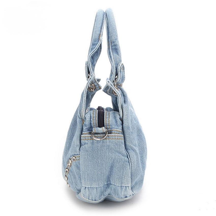 KISS KAREN Fashion Diamond Studs Denim Bag տիկնայք - Պայուսակներ - Լուսանկար 6