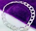925 серебряный браслет мужчины и женщины 8 ММ плоские кожаные Итальянские ювелирные подарки