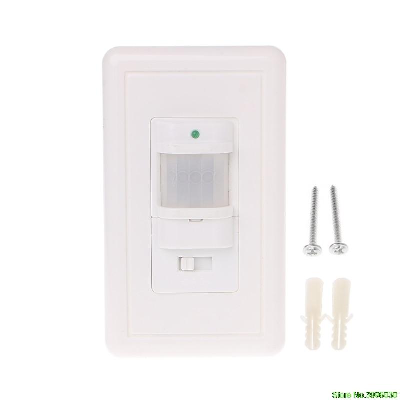 Auto On/Off Infrared PIR Occupancy Vacancy Motion Sensor Light Lamp Switch White цены онлайн