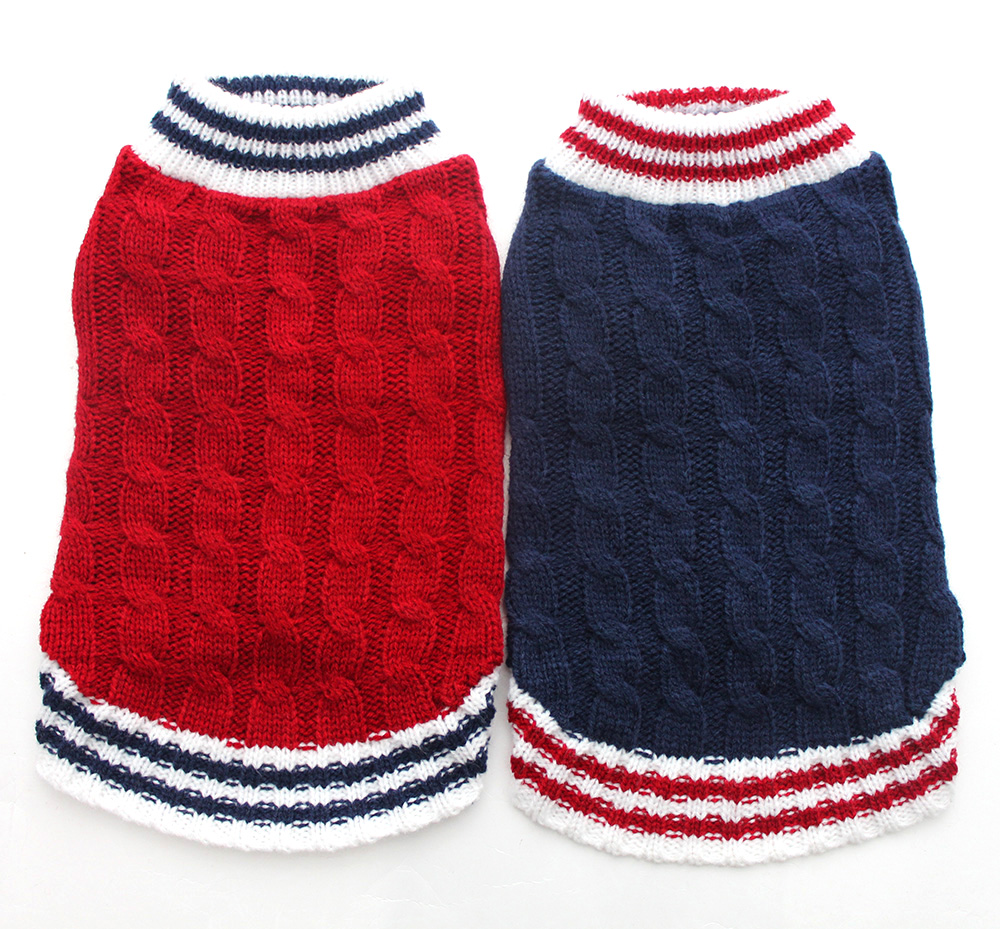 Dog Cat Sweater Preppy Style Jumper Pet Puppy Coat Kurtka Winter Warm Clothes Apperal