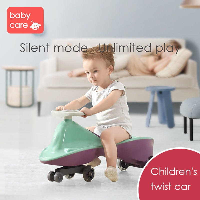 Children Three Wheel Balance Car Scooter Portable No Foot Pedal Toys Twist Car ound Universal Wheel Swing Tricycle Toy 1-3 YearsChildren Three Wheel Balance Car Scooter Portable No Foot Pedal Toys Twist Car ound Universal Wheel Swing Tricycle Toy 1-3 Years