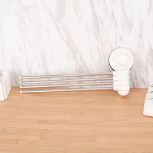New Arrival Swivel 360 Degree Bathroom Towel Rack Strong Suction Shelf Rotating Wall Removable