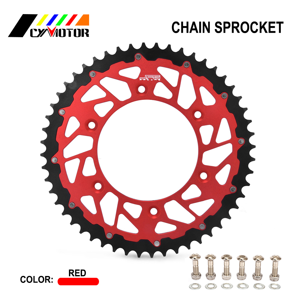 Motorcycle Rear Sprocket For 250 300 <font><b>350</b></font> 390 400 430 450 480 498 RR RS 2T For <font><b>HONDA</b></font> CR CRF <font><b>XR</b></font> CRM 125 R 150 F 230 M X Motor Bike image