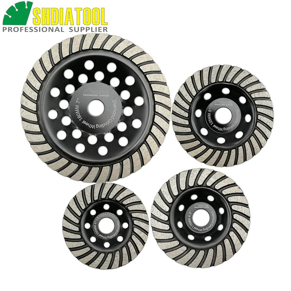 SHDIATOOL 1pc Diamond Turbo Row Grinding Cup Wheel Grinding Disc Diameter 4