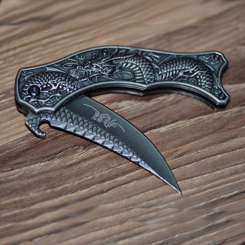 Klasszikus sárkányfaragás Összecsukható kés Zsebkés szabadban - Kézi szerszámok - Fénykép 3
