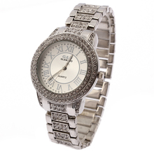 лучшая цена G&D Women Single Chain Silver Stainless Steel Band Fashion Watch Quartz Analog Wrist Watches