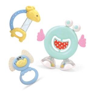 Image 3 - Baby Speelgoed Plastic Hand Jingle Schudden Bel Mooie Hand Schudden Bell Ring 12PCS Baby Rammelaars Speelgoed Pasgeboren Macarons Bijtring speelgoed