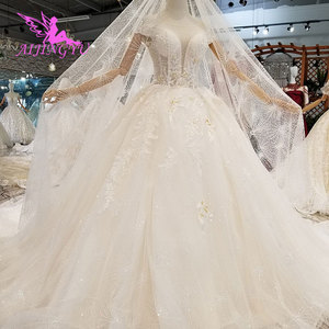Image 5 - AIJINGYU Lungo Modest Abiti di Singapore Con La Coda Lunga Indonesia Plus Size Spose Pizzo WeddingGown Bridalwear