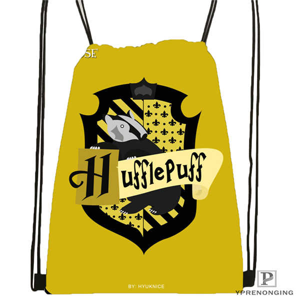 Custom hufflepuff 02 Drawstring Backpack Bag Cute Daypack Kids Satchel Black Back 31x40cm 180611 03 127