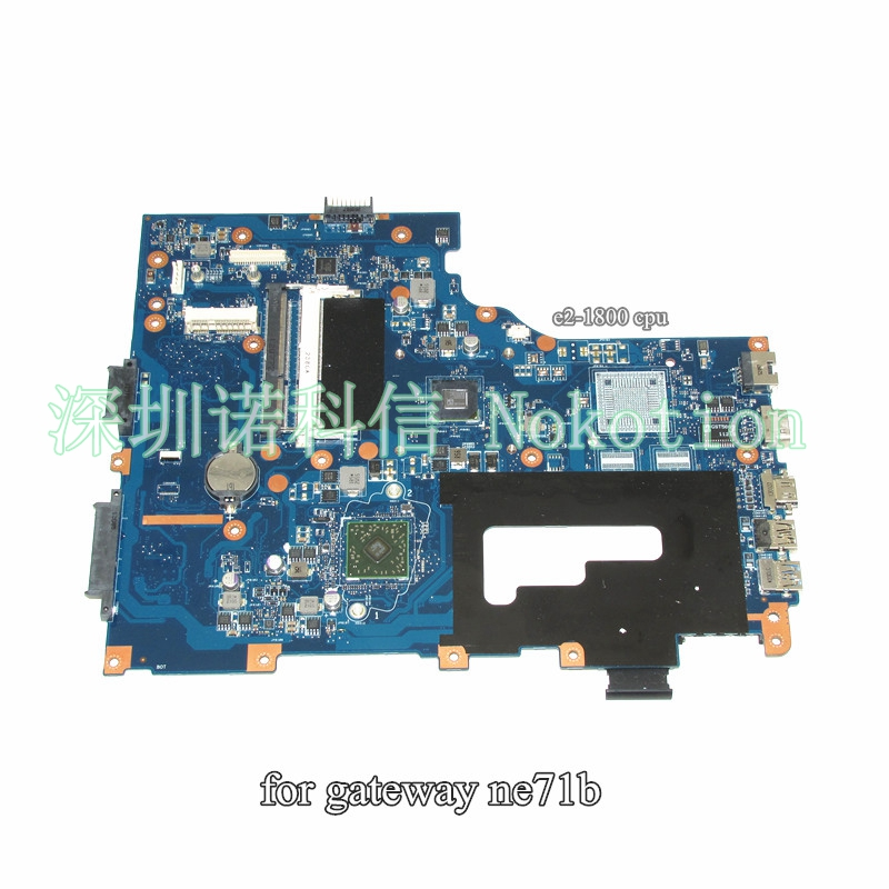 NOKOTION Laptop Motherboard For Gateway NE71B Pegatron EG70 EG70BZ Main Board Rev 2.0 DDR3 full test eg70 eg70bz rev 2 0 for gateway ne71b ne71b06u laptop motherboard e2 1800 cpu ddr3