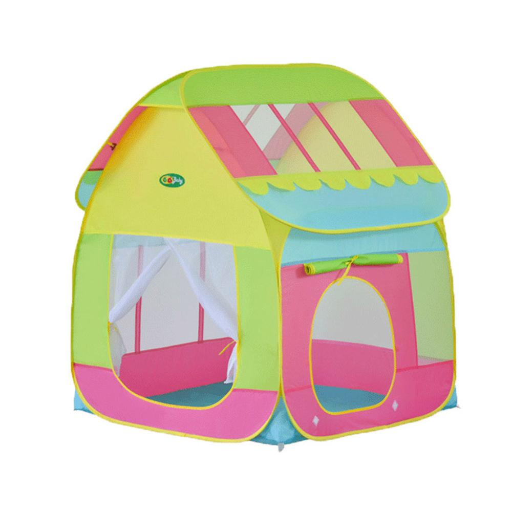 4 шт. детская палатка для помещений и улицы, детский игровой домик с океанским шариком, детский туннель из труб для ползания, игрушка, складная надувная палатка - Color: 05