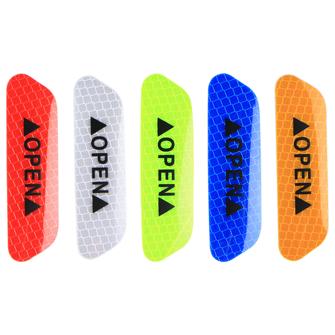 Hot Sale Warning Mark Reflective Tape Universal Exterior Accessories Car Door Stickers OPEN Sign Safety Reflective Strips 4Pcs