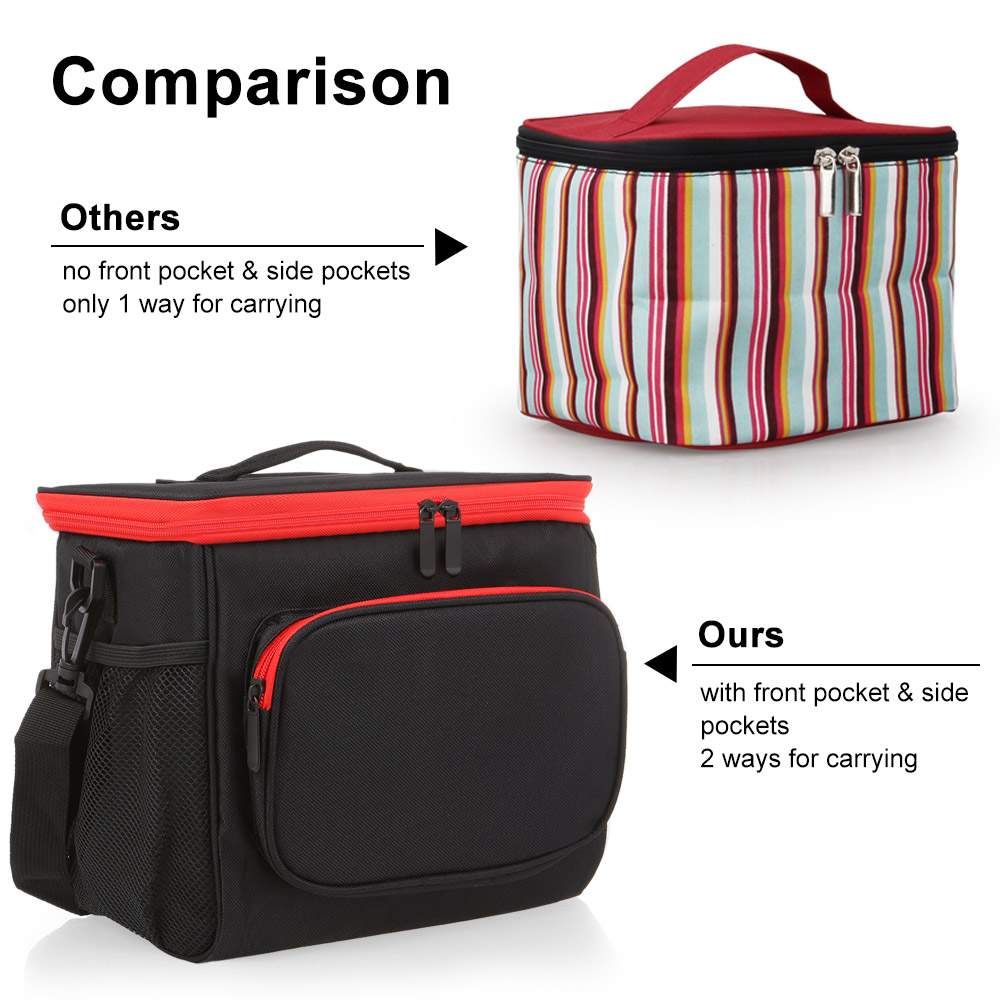 Image 4 - Insulated Lunch Bag Tote Box Picnic Tote with Adjustable Shoulder Strap Leakproof & Fashionable Cooler Tote Bag for Adult & Kids-in Storage Bags from Home & Garden