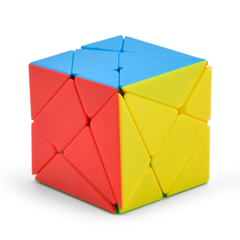 New Strange-Shape Stickerless Fluctuation Skew Magic Cube Axis Speed 3X3x3 Puzzle Cubes Educational Toys For Kids Children F15
