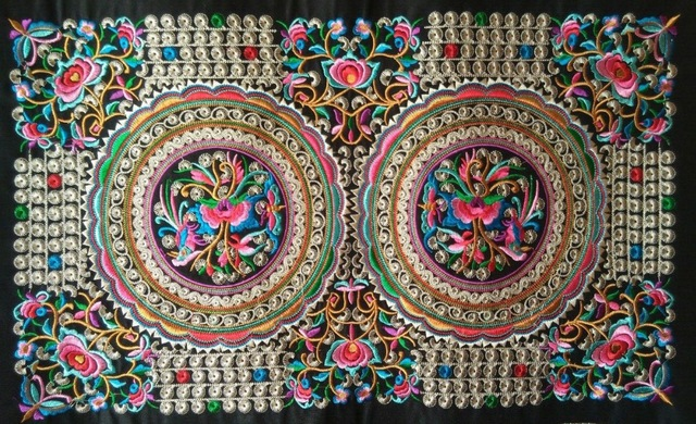 Miao Stich Häkeln Plain Stoff Stickerei Patch Kleid Schuhe Tasche