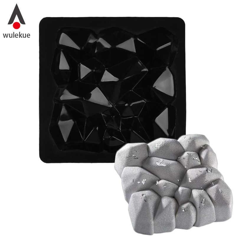 Wulekue алмаз силиконовая форма для выпечки приборы для украшения выпечки инструменты для мусс сыр форма для выпечки принадлежности для сковород