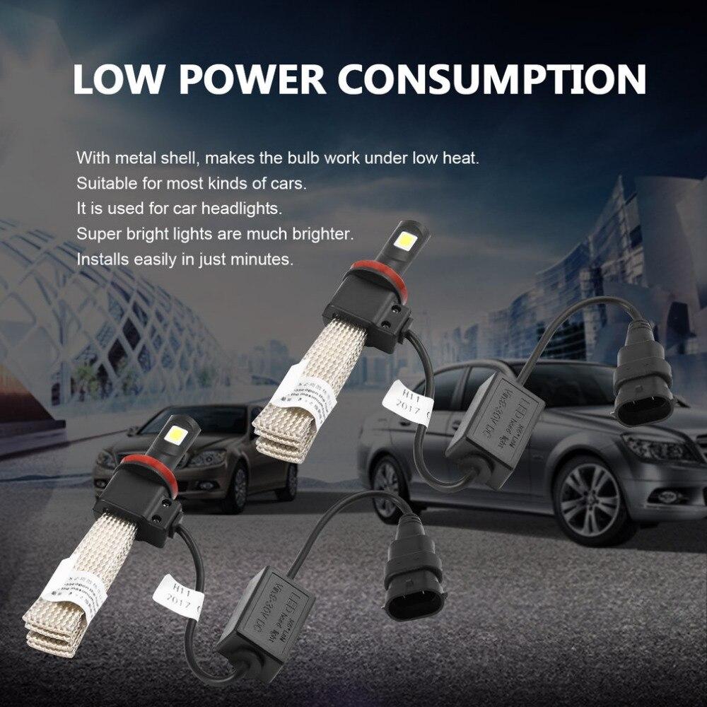 2Pcs Car LED Auto Headlight Bulb High Power Lights All-in-One Conversion Kit Super Bright Car Headlight 60W 7200LM 6000K 2pcs x7 led car headlights led 80w 7200lm 880 super bright cree led ledheadlight all in one conversion kit 6000k pure white