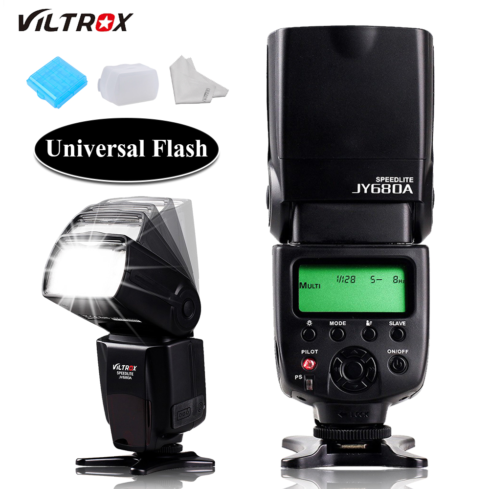 Viltrox JY-680A JY680A Camera Flash Speedlite For Canon 6d 650d Pentax Nikon d5300 d7200 d7100 d3100 d90 d3200 d5200 Olympus jy 680a universal camera lcd flash speedlite for canon 100d 1200d 650d 750d 70d 60d for nikon d90 d5100 d3200 d3300 d7100