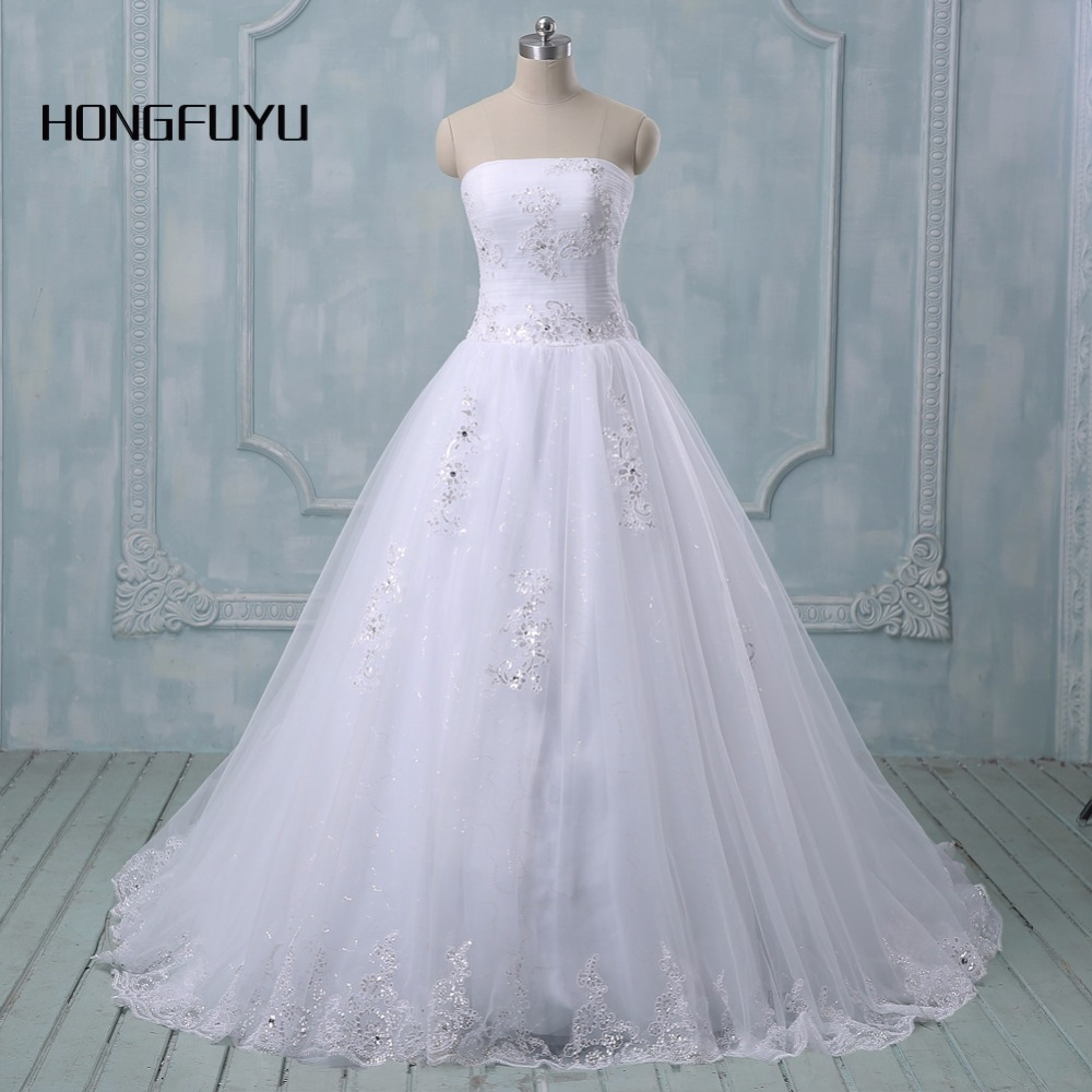 All Lace Wedding Gowns: 2019 New Romantic White/ivory Wedding Dresses Lace Wedding