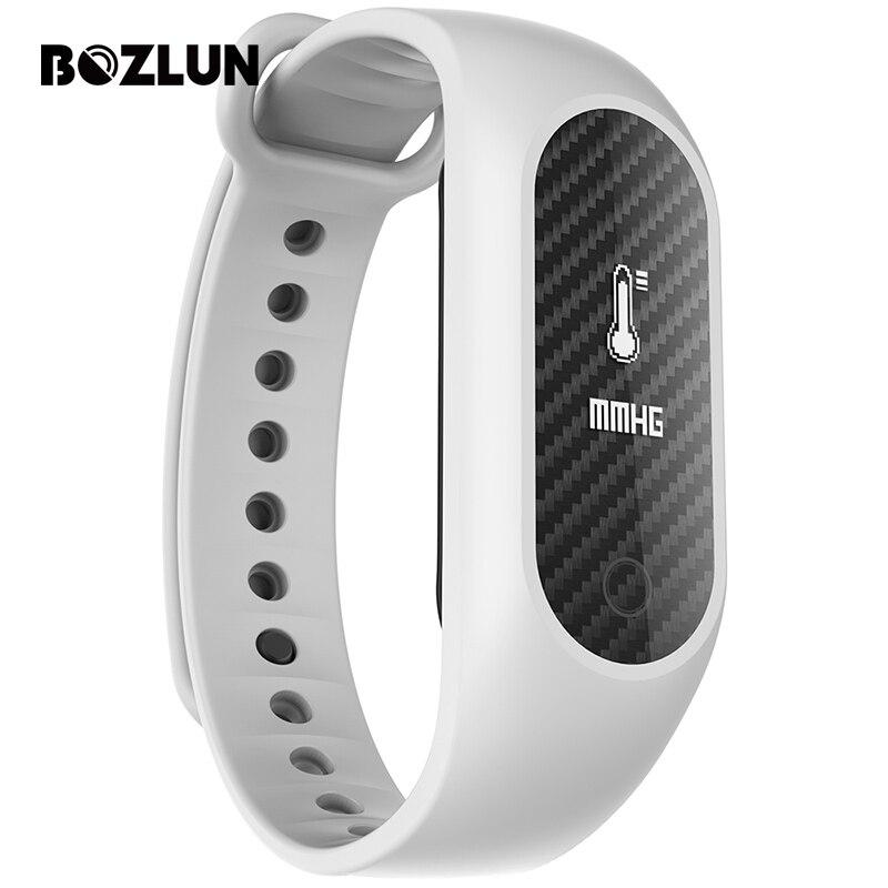 Bozlun B15S Men Women Blood Oxygen Smart Bracelet Carbon Fiber Watches Heart Rate Digital Wristwatches Bluetooth