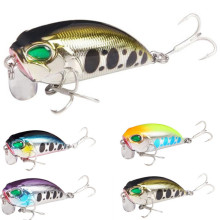 Купить с кэшбэком 2019 Fishing Lures 5 Colors Crank Minnow Lure 5cm/8.3g Hard Baits Bass Crankbait Wobblers Fishing bait Treble Hooks Tackle