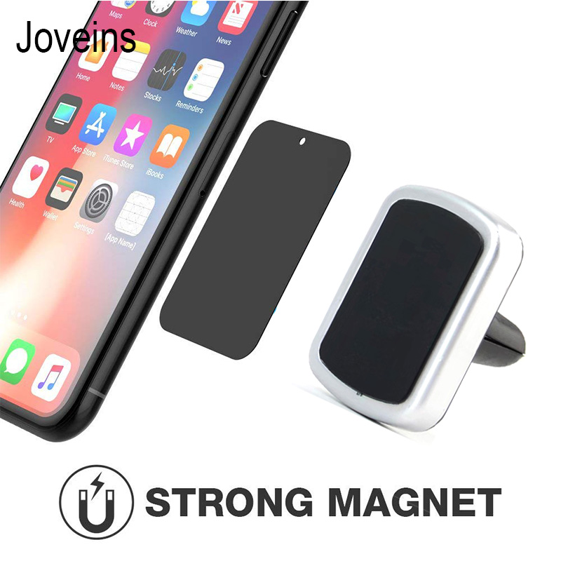 JOVEINS Car Phone Holder Magnetic Air Vent Mount Mobile Smartphone Stand Magnet with Cable Clip Cellphone Telephone Tablet GPS smartphone