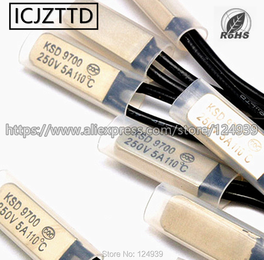1PCS KSD9700/250/V 5/a disco bimetallico temperatura interruttore N//o termostato protezione termica 15/20/25/30/35/gradi centigradi